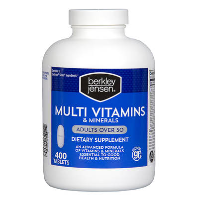 Berkley & Jensen Multi Vitamins & Minerals with Lycopene for Adults 50+, 400 Count