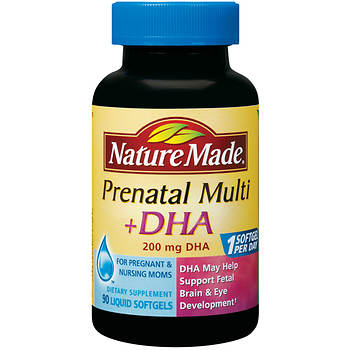 Nature Made Prenatal Multivitamins with 200mg DHA Softgels, 90 ct.