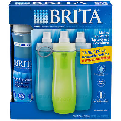 Brita Bottles with Bonus Filters, 3-Pk