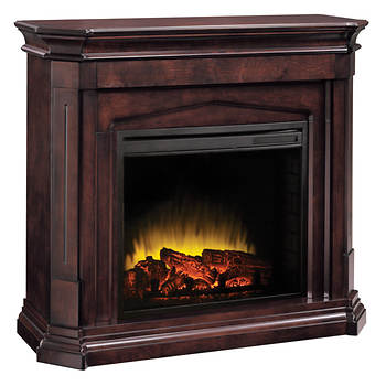 Pleasant Hearth Compton Electric Fireplace - Mocha