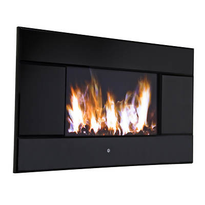 Pleasant Hearth Evoke Wall Mounted Lcd Electric Fireplace Black Bj 39 S Wholesale Club