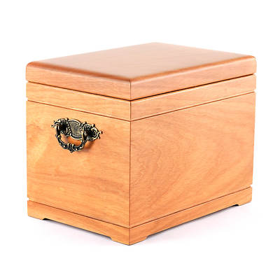 Star Legacy Natural Wood Celestial Supreme Memory Chest with Large/Adult Urn - Oak Finish