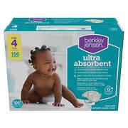 Berkley Jensen Ultra Absorbent Diapers, Size 4, 156 ct.