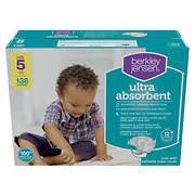 Berkley Jensen Ultra Absorbent Diapers, Size 5, 138 ct.