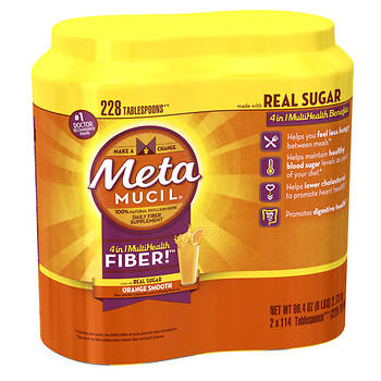 Metamucil MultiHealth Fiber Orange Smooth Flavor, 228 Doses, 2 pk.