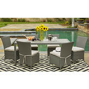 Handy Living Aldrich Outdoor 7-Pc. Dining Set - Gray/Gray