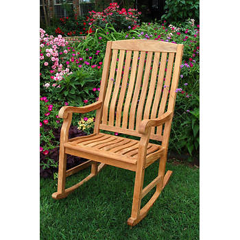 Crestwood Garden Collection Teak Porch Rocker