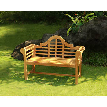 Crestwood Garden Collection 4' Teak Lutyens Bench