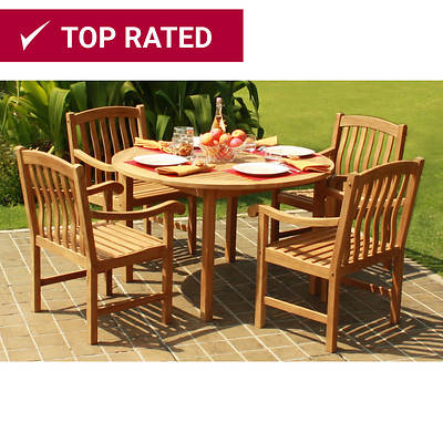 Crestwood Garden Collection 5-Piece Teak Dining Set