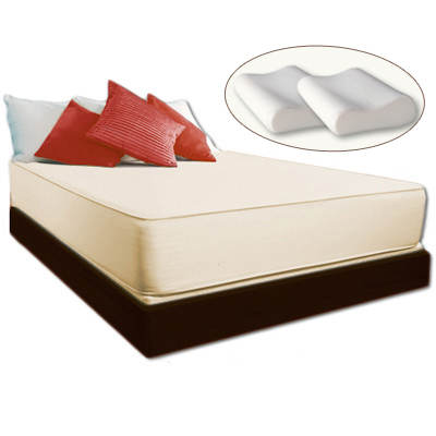 "Cradlesoft Coolmax Twin-Size 11"" Memory Foam Mattress with 2 Bonus Memory Foam Pillows"