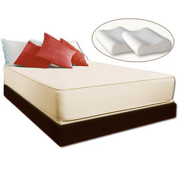 "Cradlesoft Coolmax Queen-Size 11"" Memory Foam Mattress with 2 Bonus Memory Foam Pillows"