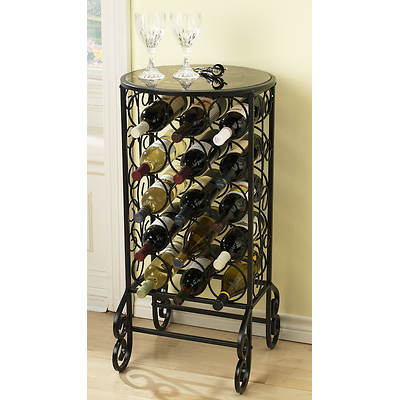 SEI Sonoma Wine Storage Table - Black