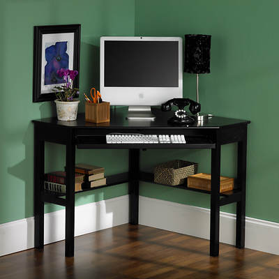SEI Red Bank Corner Computer Desk - Black