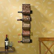 SEI Artistic Wave Wall Mount Wine Rack