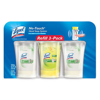 Lysol Healthy No-Touch Hand Soap System Refill, 3 pk./25.5 fl. oz.