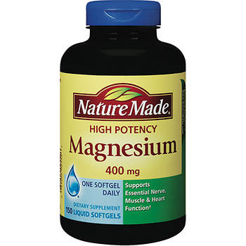 Nature Made 400mg High Potency Magnesium Liquid Softgels, 150 Count