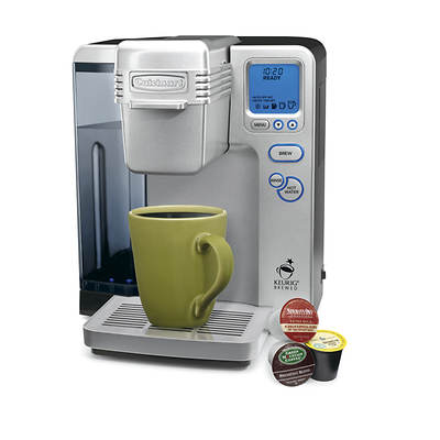 Cuisinart Single-Serve Brewer with Keurig K-Cup System, 12 K-Cup Starter Pack and 9 Charcoal Water Filters