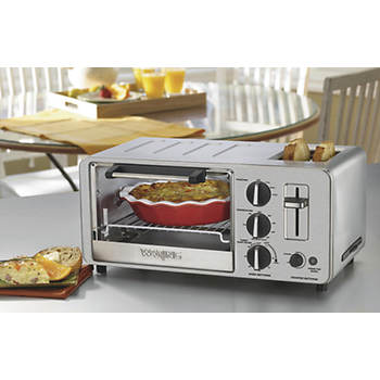 Waring 4-Slice Toaster Oven with 2-Slice Toaster - Stainless Steel