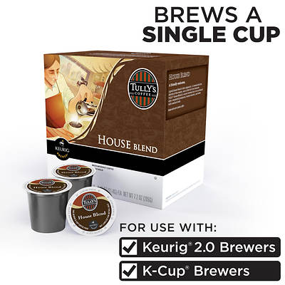 Tully's Coffee House Blend Coffee, 80 K-Cups