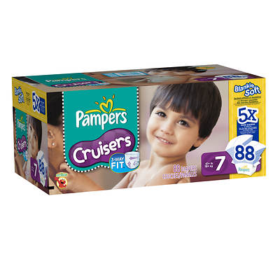 Pampers Cruisers Size 7 Diapers, 88 Count