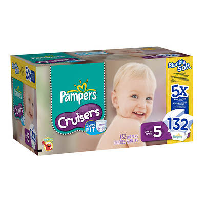 Pampers Cruisers Size 5 Diapers, 132 Count