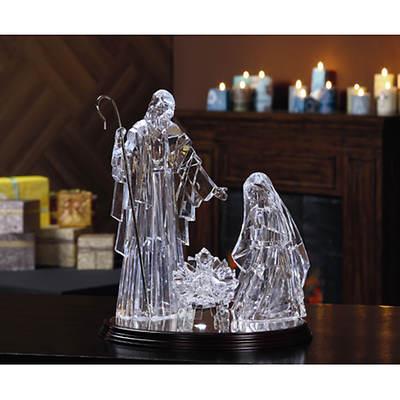 Living Home 4-Piece Illuminated Holy Family