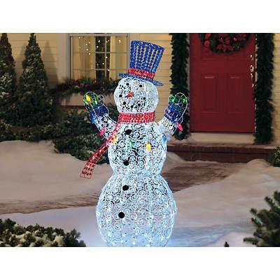 "Living Home Everstar 60"" Crystal Swirl Snowman"