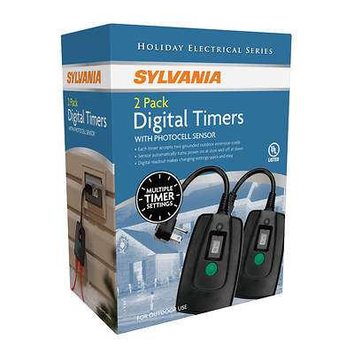 Sylvania Digital Timer with Photocell Sensor, 2-Pk