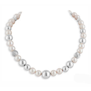 Jimmy Quiroga Pearls and Silver Bead Necklace