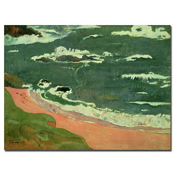 "Beach at Le Pouldu, 1889 by Paul Gauguin Gallery-Wrapped Giclee Print, 32"" x 24"""