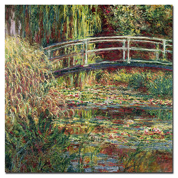 "The Water-Lily Pond, Symphony in Rose, 1899 by Claude Monet Gallery-Wrapped Giclee Print, 35"" x 35"""