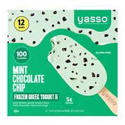 Yasso Mint Chocolate Chip Frozen Greek Yogurt Bars, 12 ct./3.5 oz.