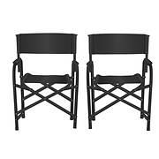 "Impact Canopy 34 1/4"" Director's Chair, 2 pk. - Black"