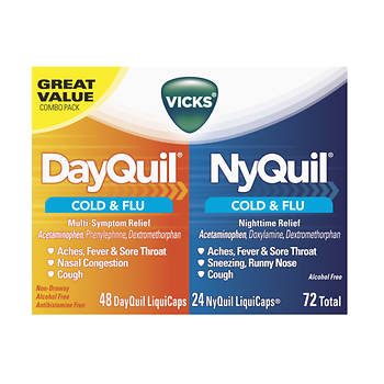 NyQuil/DayQuil Cold & Flu Relief LiquiCaps Combo Pack