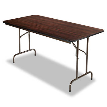 "Alera 30"" x 60"" Folding Table - Walnut"