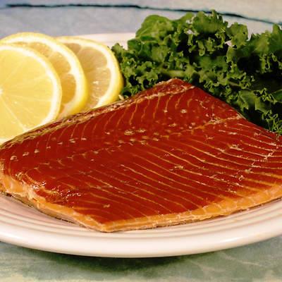 Alaskan Smoked Sockeye Salmon in Checkered Tin, 8 Oz., 2-Pk