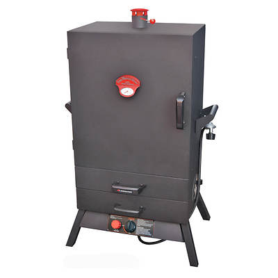 "Landmann Smoky Mountain 38"" Wide-Chamber Vertical Gas Smoker with 2 Heat-Saving Drawers"