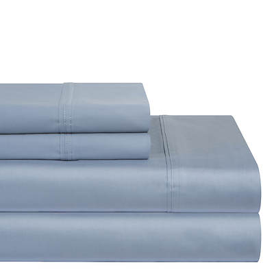 Pointehaven Solid Flannel Full-Size Sheet Set - Blue