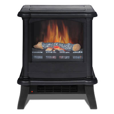 Quality Craft Decorflame Electric Stove Heater - Matte Black