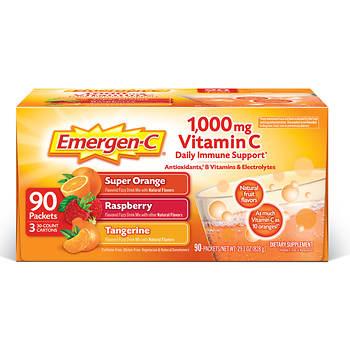 Emergen-C 1,000mg Vitamin C Dietary Supplement, 90 Count