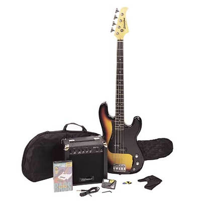Silvertone Revolver Electric Bass Guitar Package - Sunburst