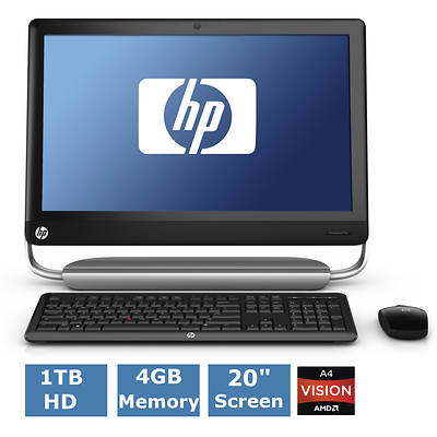 HP TouchSmart 320-1030 All-In-One with AMD Quad-Core A4 Accelerated Processor, 4GB DDR3, 1TB HDD