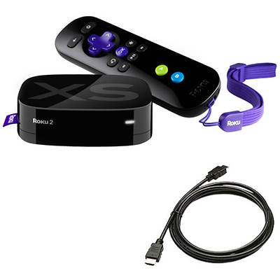 Roku 2 XS Streaming Player Bundle Includes 6' HDMI Cable and 2 Free Months of Hulu+