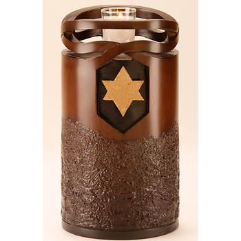 Star Legacy Infinity Large/Adult Urn with Star of David - Wood Finish