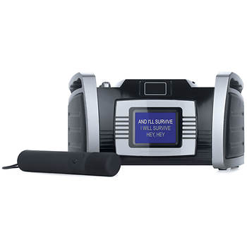 "Singing Machine Horizontal 3.5"" Color TFT LCD CD+G Karaoke Player with 5 Free Download Songs"