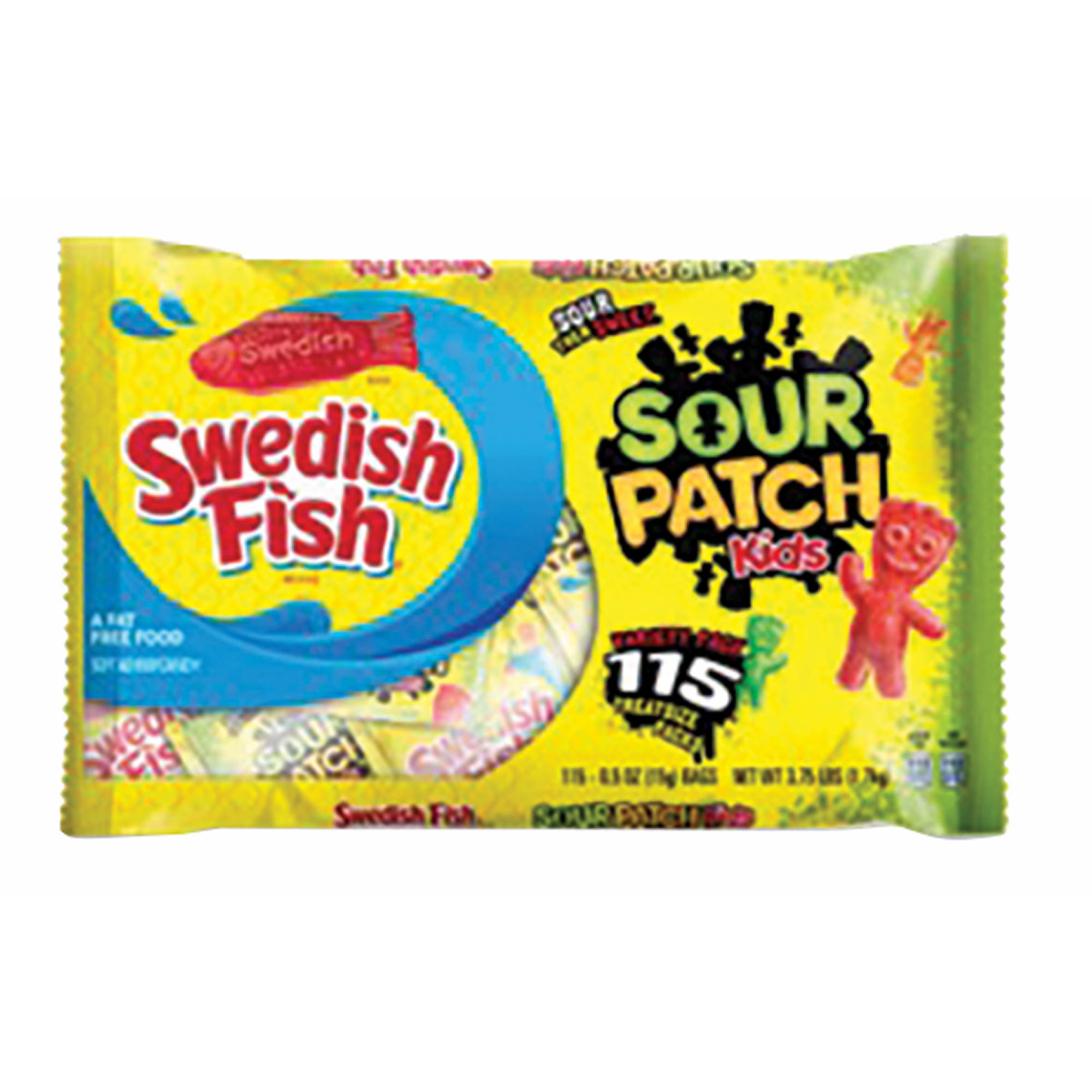sour patch kids candy and swedish fish candy variety pack