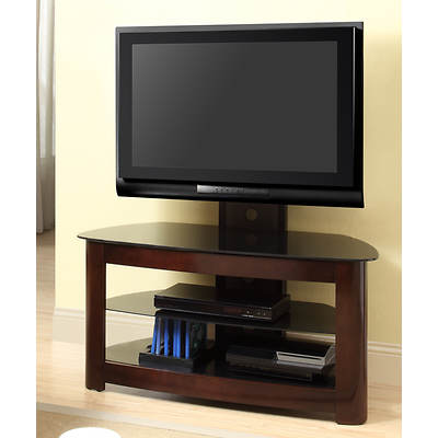"W. Trends 42"" TV Stand with Removable Tilting Wall Mount - Espresso"