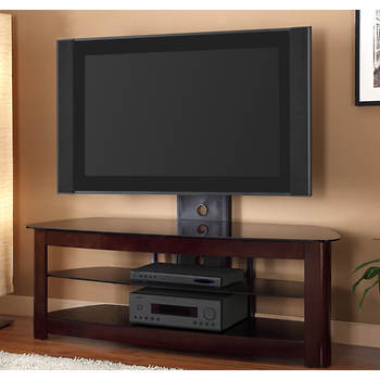 """W. Trends 60"""" TV Stand with Removable Tilting Wall Mount - Espresso"""