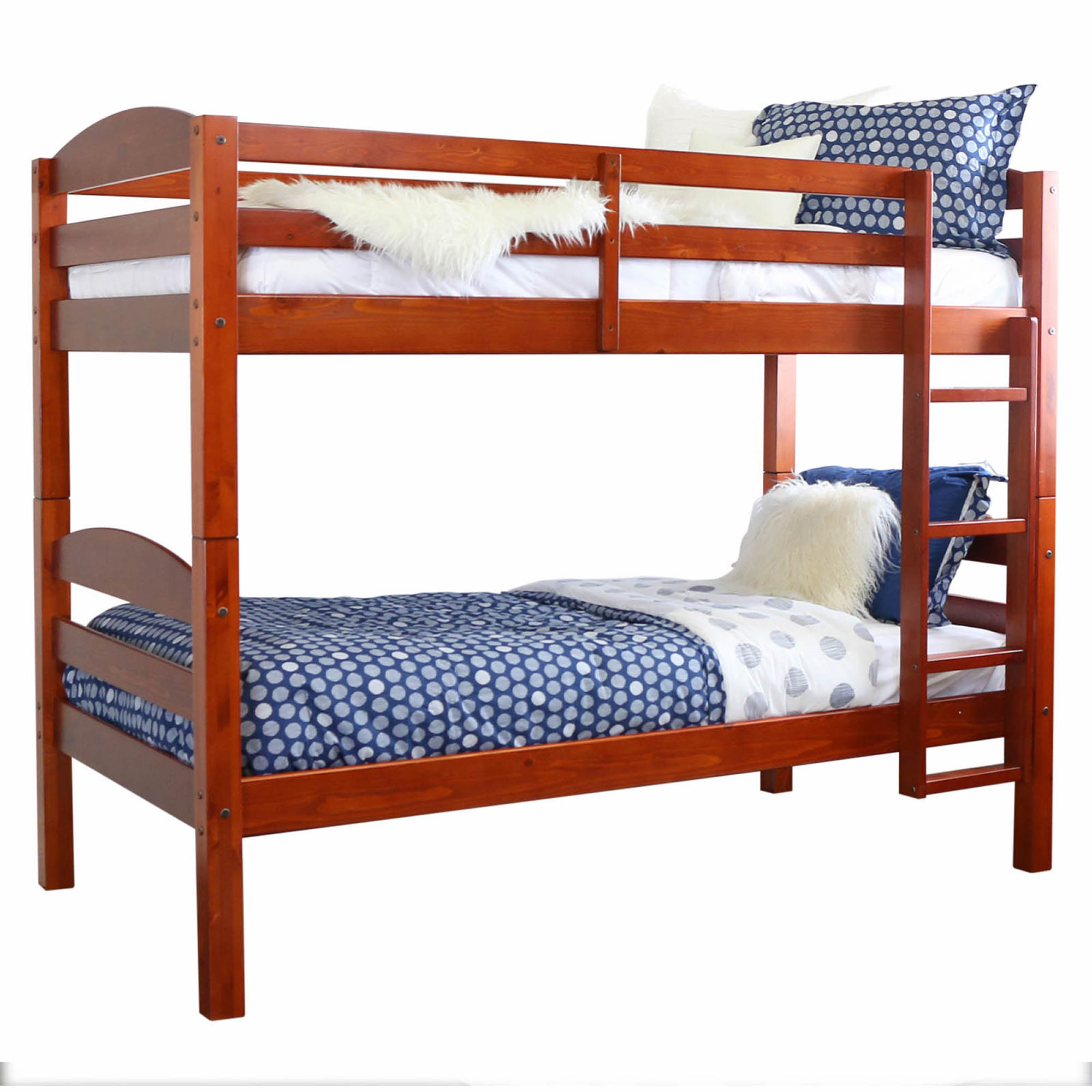 W trends twin size solid wood bunk bed cherry bj s