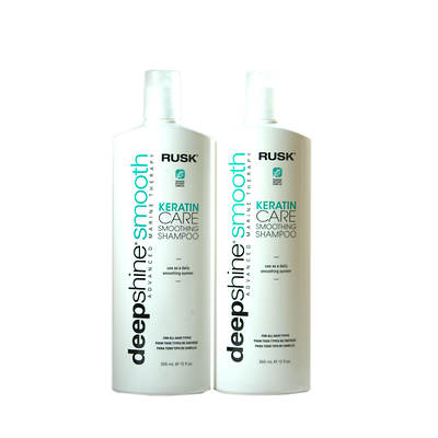 Rusk Deep Shine Smooth Keratin Care Smoothing Shampoo, 12 Oz. 2-Pk